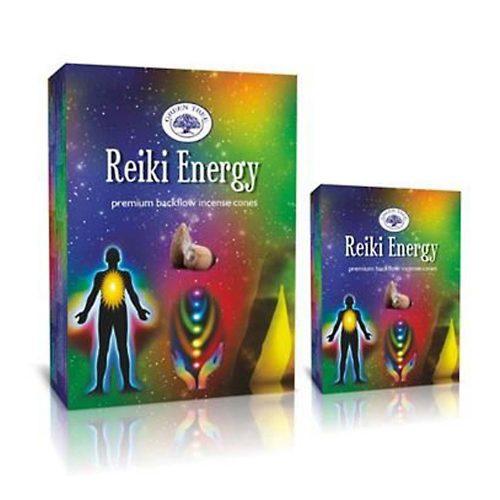 Green Tree Reiki Energy Back Flow (Reiki Energia) Lefelé Folyó Kúpfüstölő