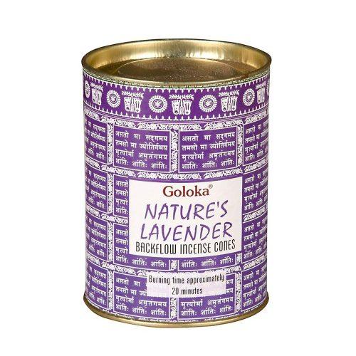 Goloka Lavender Back Flow (Levendula) Lefelé Folyó Kúpfüstölő