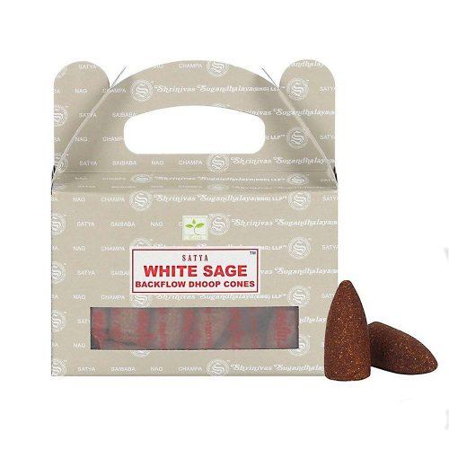 Satya White Sage BackFlow (Fehér Zsálya) Lefelé Folyó Kúpfüstölő