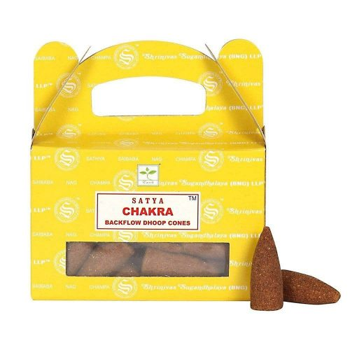 Satya Chakra BackFlow (Csakra) Lefelé Folyó Kúpfüstölő