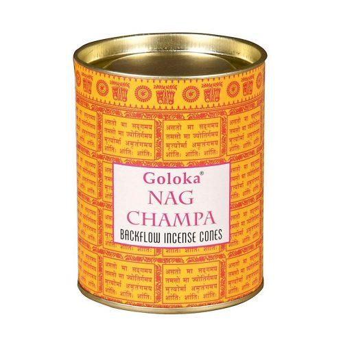 Goloka Nag Champa Back Flow Lefelé Folyó Kúpfüstölő