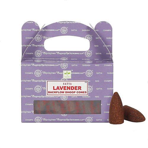 Satya Lavender BackFlow (Levendula) Lefelé Folyó Kúpfüstölő