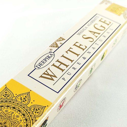 Deepika Fehér Zsálya (White Sage) Prémium Indiai Füstölő