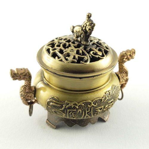 Arany Sárkány Díszített Kúp Füstölőtartó (1db)