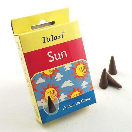 Tulasi Sun (Nap) Indiai Kúpfüstölő (15db)