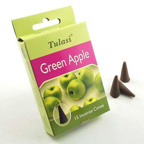 Tulasi Green Apple (Zöldalma) Indiai Kúpfüstölő (15db)