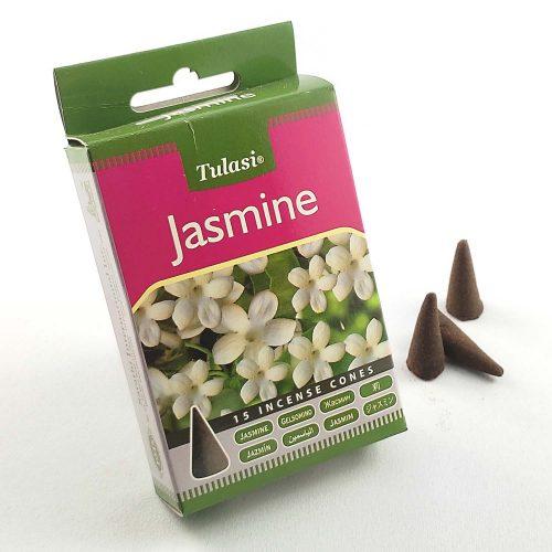 Tulasi Jasmine (Jázmin) Indiai Kúpfüstölő (15db)