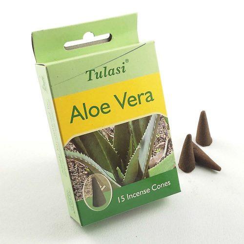 Tulasi Aloe Vera (Aloe Vera) Indiai Kúpfüstölő (15db)