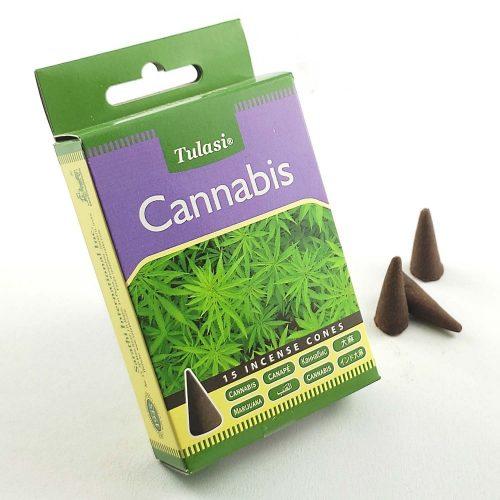 Tulasi Cannabis (Kannabisz) Indiai Kúpfüstölő (15db)