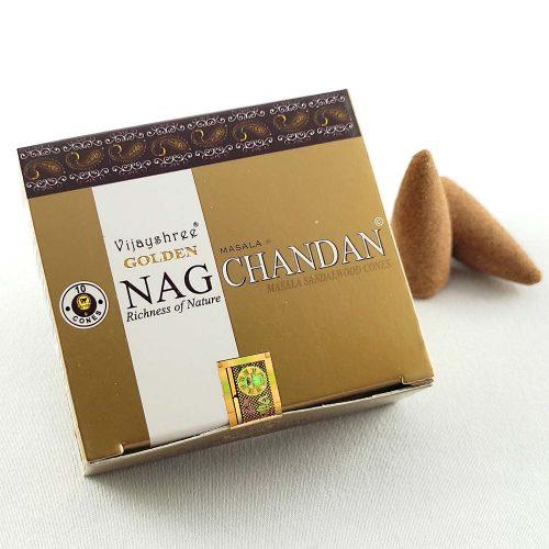 Golden Nag Chandan Indiai Kúpfüstölő