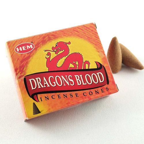 HEM Dragons Blood (Sárkányvér) Indiai Kúpfüstölő