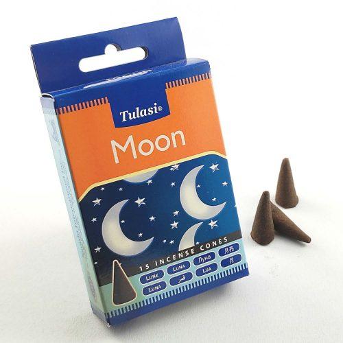 Tulasi Moon (Hold) Indiai Kúpfüstölő (15db)