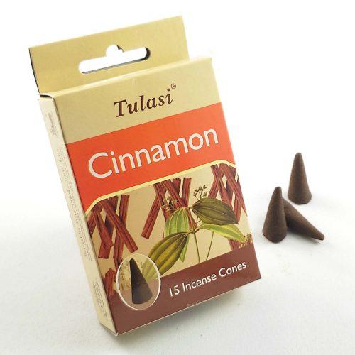 Tulasi Cinnamon (Fahéj) Indiai Kúpfüstölő (15db)