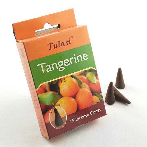 Tulasi Tangerine (Mandarin) Indiai Kúpfüstölő (15db)