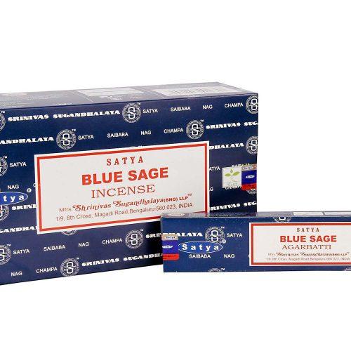 Satya Blue Sage  Füstölő » Spirituális Mesterektől