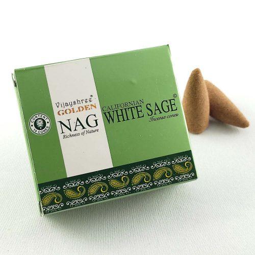Golden Nag White Sage (Fehér Zsálya) Indiai Kúpfüstölő