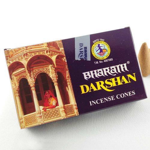 Bharath Darshan Tradícionális Indiai Kúpfüstölő (10db)