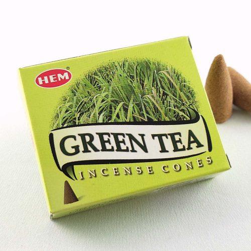 HEM Green Tea (Zöld Tea) Indiai Kúpfüstölő (10db)