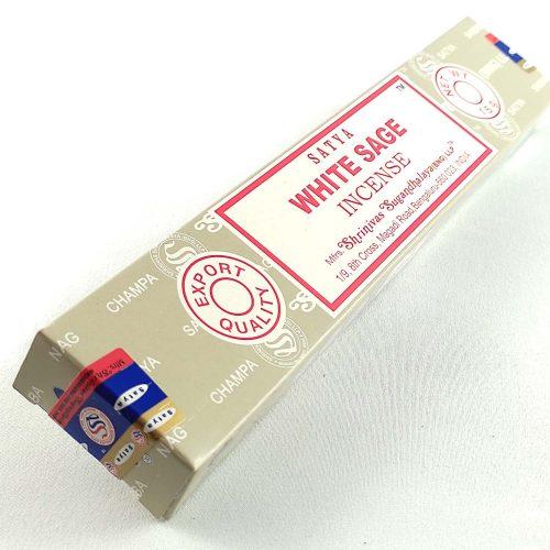 Satya White Sage (Fehér Zsálya) Indiai Füstölő (15db)