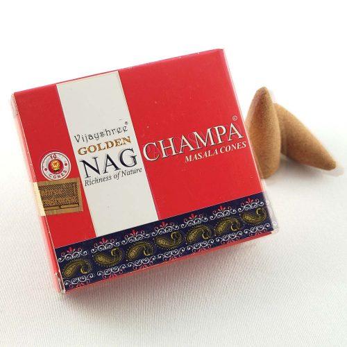 Golden Nag Champa Indiai Kúpfüstölő