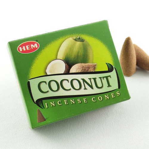 HEM Coconut (Kókusz) Indiai Kúpfüstölő (10db)