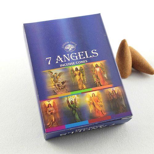 Green Tree 7 Angels (Hét Angyal) Indiai Kúpfüstölő (10db)