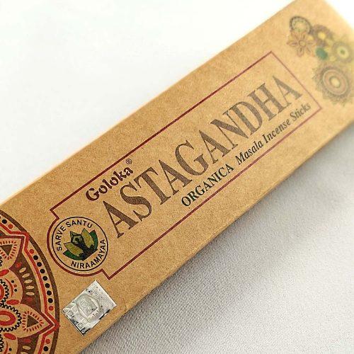 Goloka Organica Astagandha Prémium Indiai Füstölő