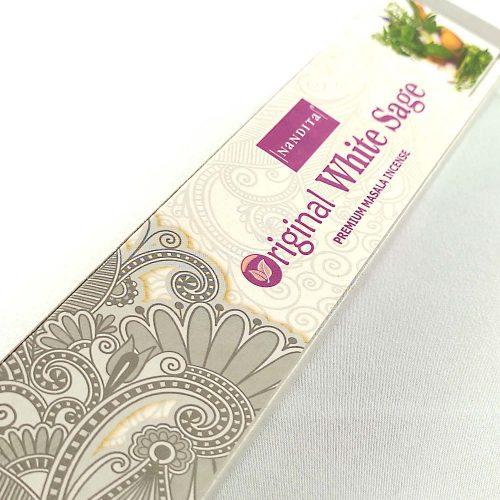 Nandita Original White Sage (Fehér Zsálya) Indiai Füstölő (15db)