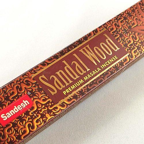 Sandesh Sandal Wood (Szantálfa) Indiai Füstölő (15db)