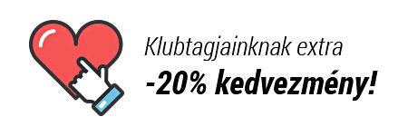 Hűségprogramunkban EXTRA 20% KEDVEZMÉNY, még az akciós termékekre is